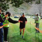 Runners coming in at the end of the Villiersdorp Parkrun