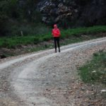 Competitor in the gorge at the Villiersdorp Parkrun